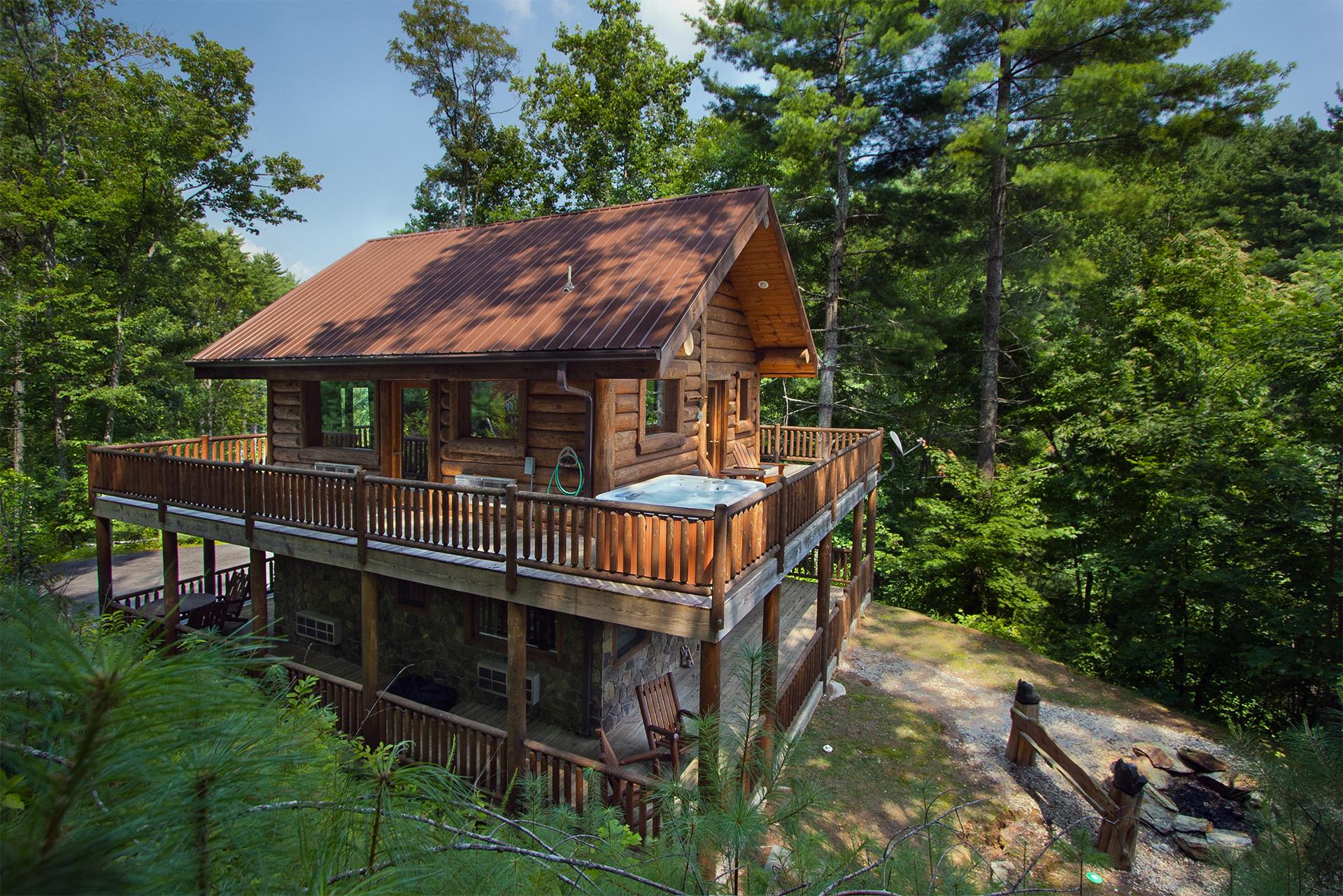 Black bear pond cabin in fontana north carolina for Cabin in north carolina mountains