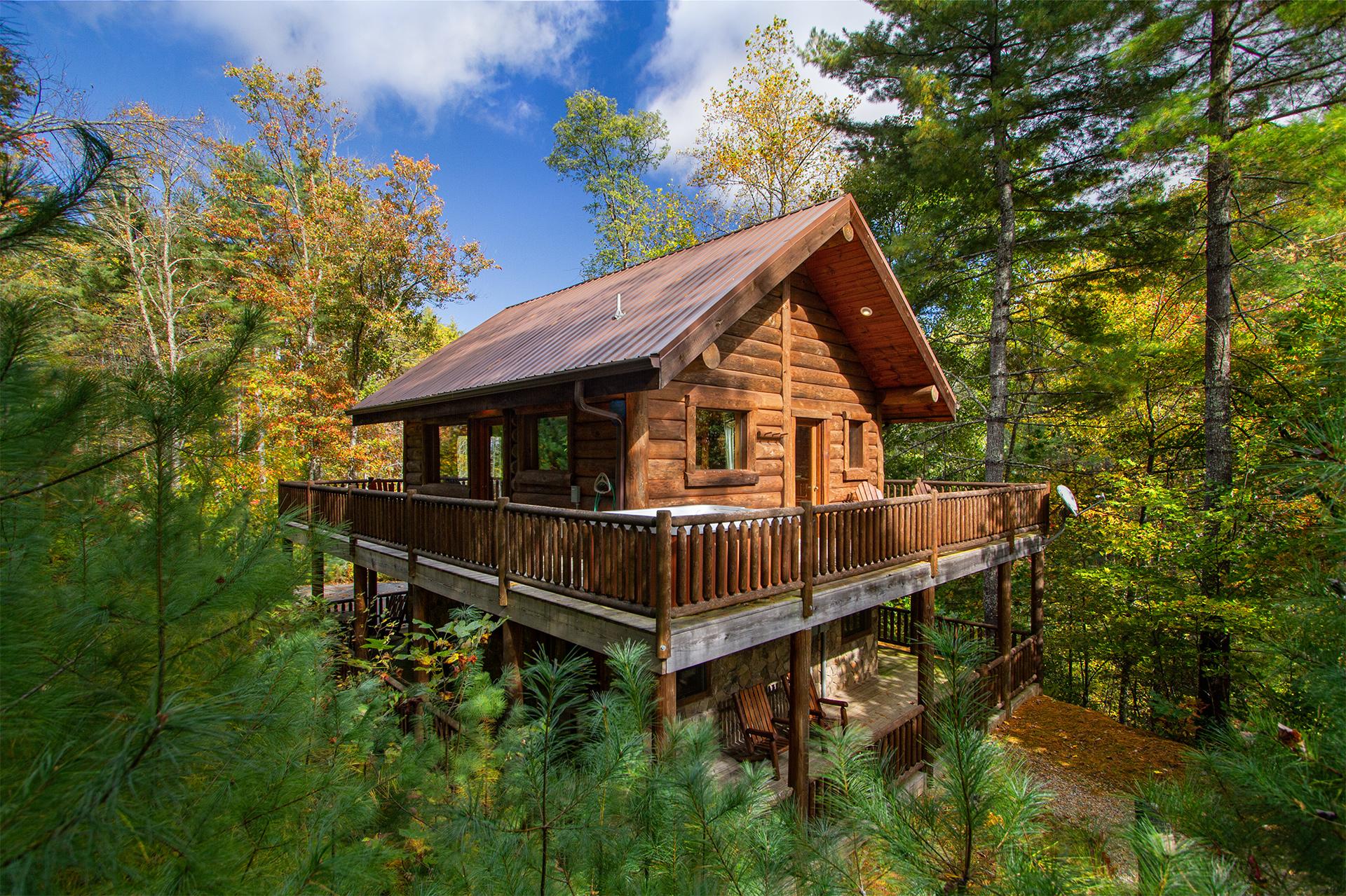 black bear pond cabin in fontana north carolina On cabins near black mountain nc