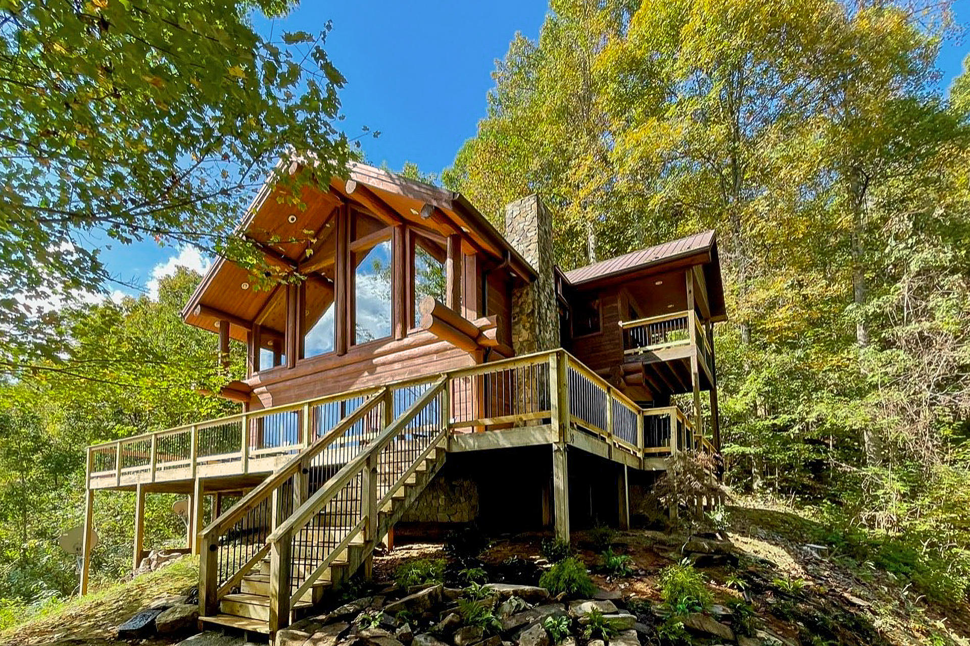 Cabin in the clouds vacation rental in nantahala nc for Vacation log homes