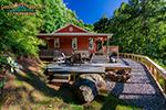 Native winds log cabin - Small log houses dream vacations wild ...