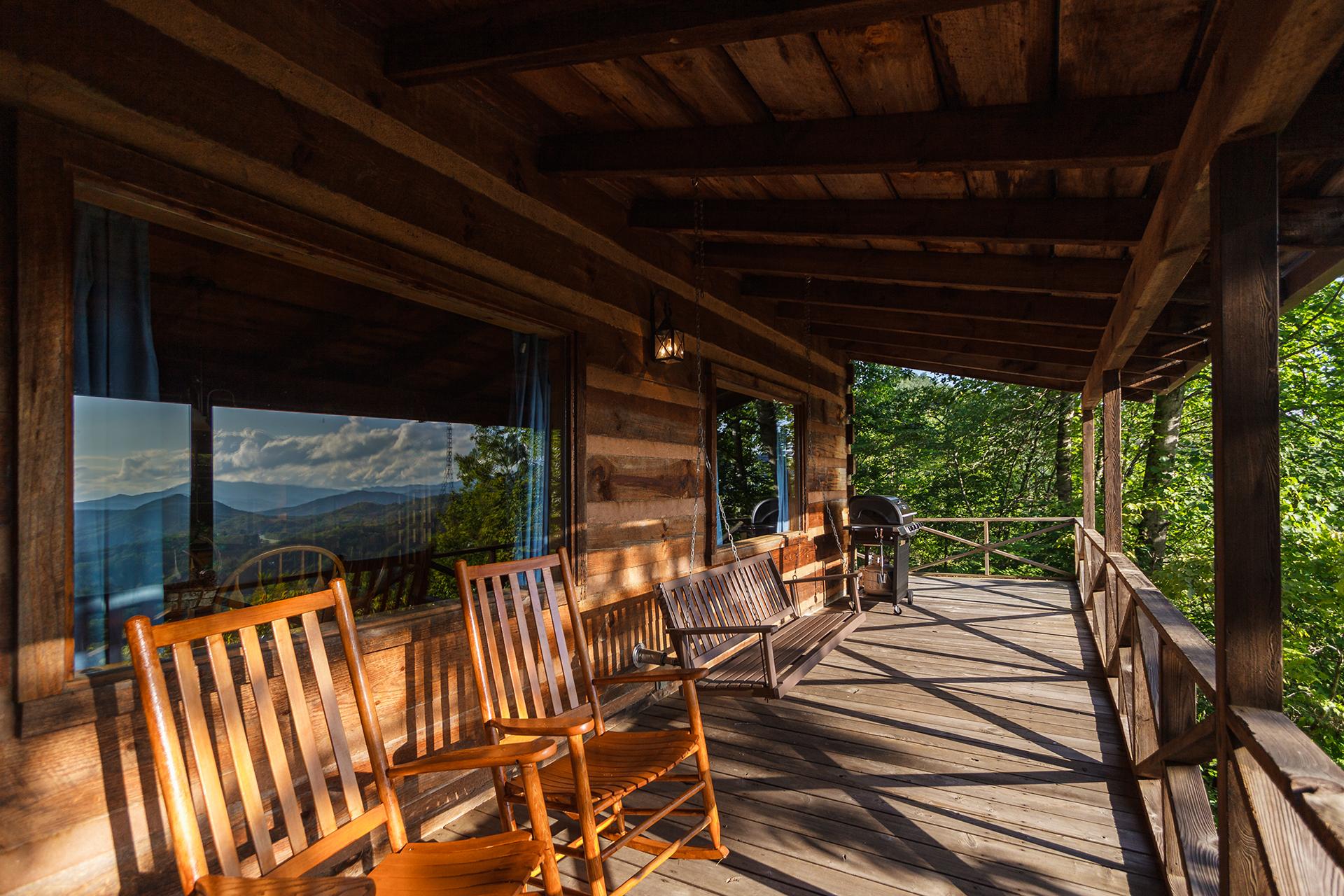 Grandpa 39 s smoky mountain log cabin vacation rental 1 bedroom - 1 bedroom cabins in smoky mountains ...
