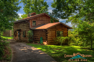 Horton House log cabin in Bryson City nc