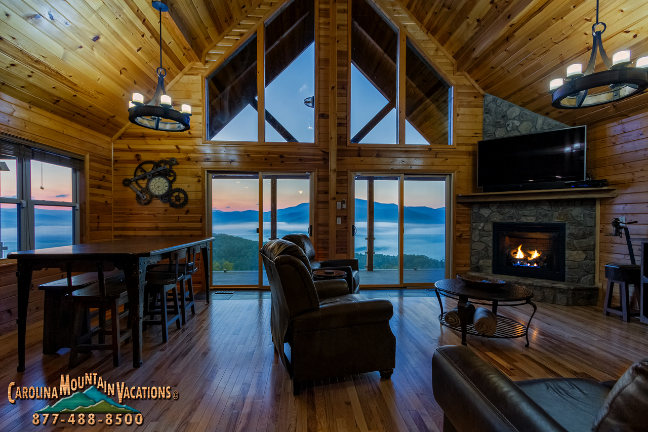 Heavenly view smoky mountain log cabin info by carolina for Heavenly cabin rentals