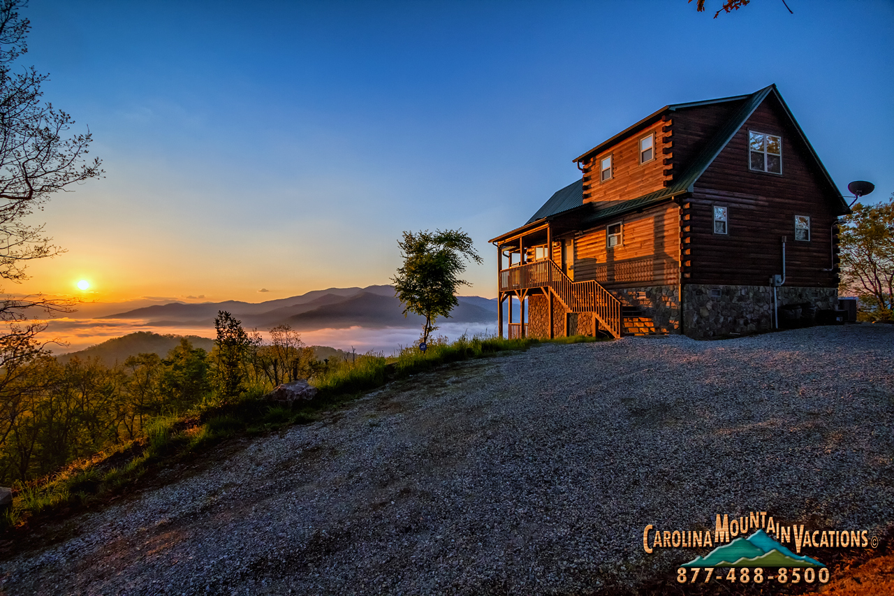 Heavenly View Smoky Mountain Log Cabin 2 Bedroom Info By