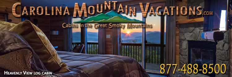 Heavenly view smoky mountain log cabin for Heavenly cabin rentals