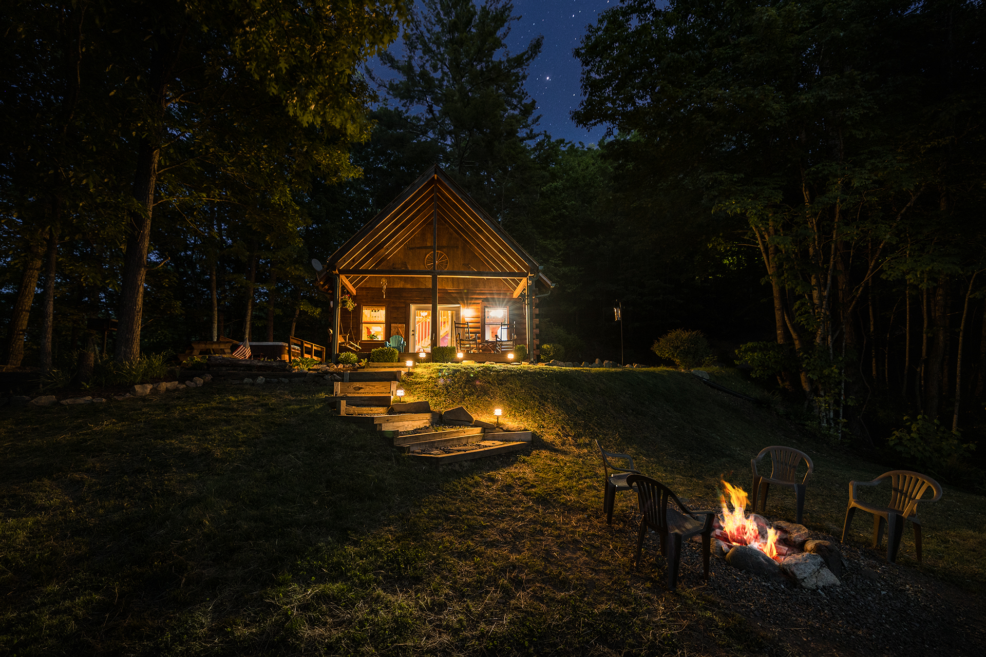 Evening Is A Great Time To Sit On The Front Porch And Watch The Fireflies  Play In The Cool Nc Smoky Mountain Air.