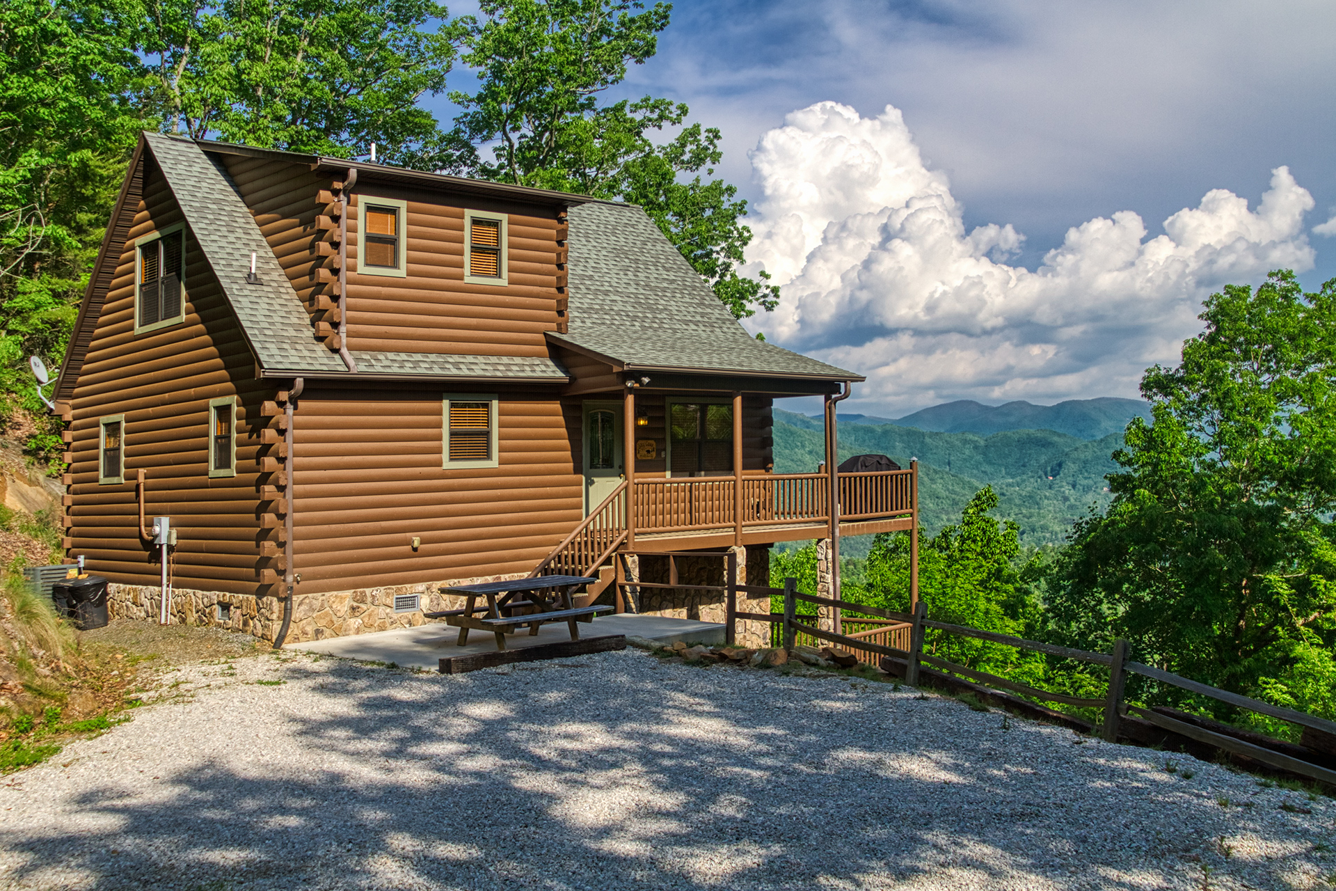 Winter View Of Sky Cove Hideaway Overlooking The Bryson City Mountains