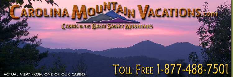 NC Mountain Cabin Rentals in the Bryson City, Cherokee, nantahala and Fontana Lake areas of the North Carolina  Smoky Mountains by Carolina Mountain Vacations