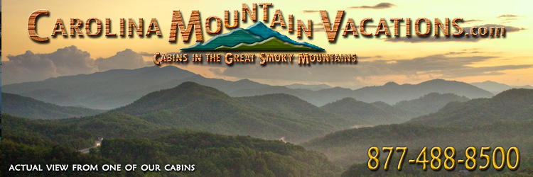 Official home page Banner of North Carolina Mountain vacation rental cabins manged by Carolina Mountain vacations
